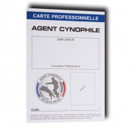 CARTE PROFESSIONNELLE AGENT CYNOPHILE