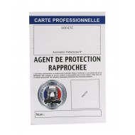 CARTE PROFESSIONNELLE AGENT DE SECURITE/ APR